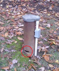 Damaged Water Well Casing resulting in ground water and worse to enter and contaminate your drinking water.