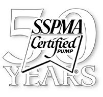 Sump Pumps that are SSPMA Certified 50 Years